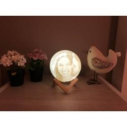 Lámpara luna personalizada